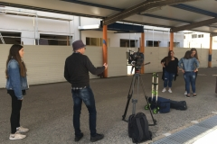 Filmagem - Rega nos espaços exteriores