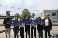 João, Carolini, Mariana, Diana, Paulo, Alexandra e Cyntia - 8ºB